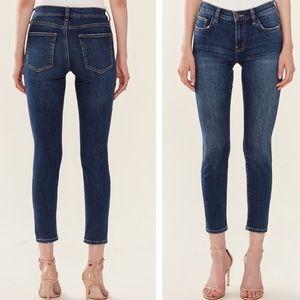 Current Elliot High waist skinny crop jeans sz 32